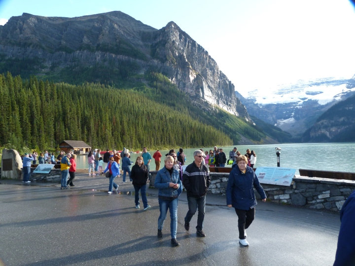 Lake Louise as it is normally