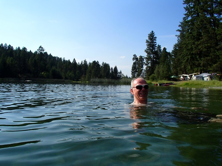 The lake was quite warm, at least I thought so!