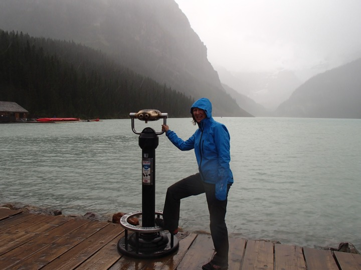 Lake Louise in the rain