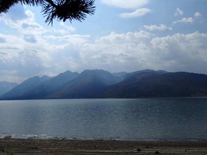 And had this brilliant view of them across Jackson lake from our campsite