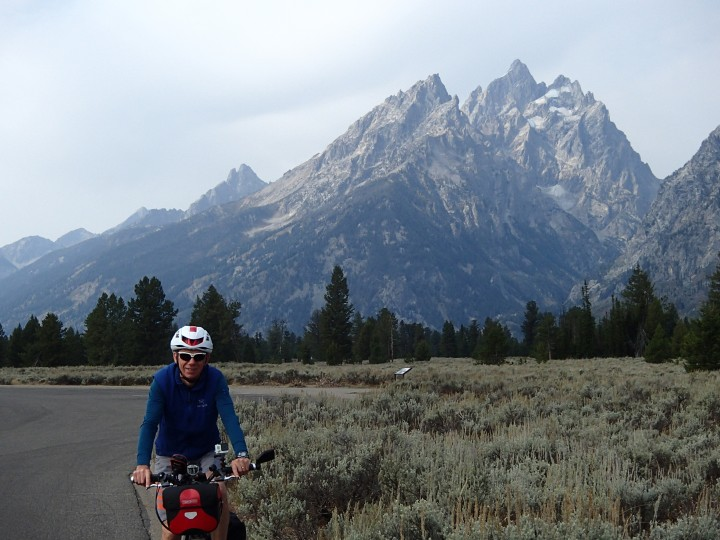 We cycled down towards Jackson Hole to get a good view of the Teton range