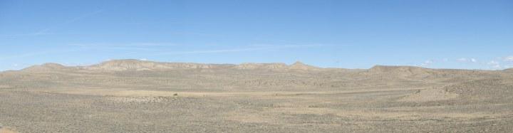 Miles of empty, dried grassland