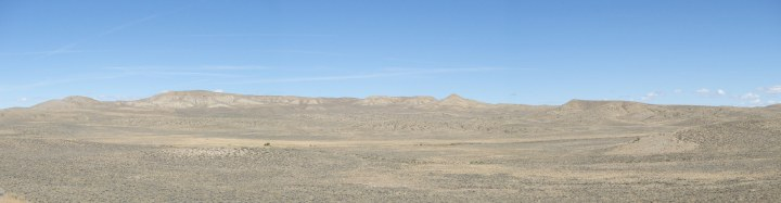 Miles of empty, dried grassland