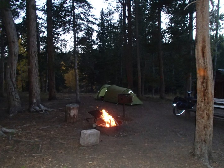 This campsite was at the top of Ute pass. We were the only people there and these there was no where bear proof to hang our food bag overnight, so we left it in toilet building