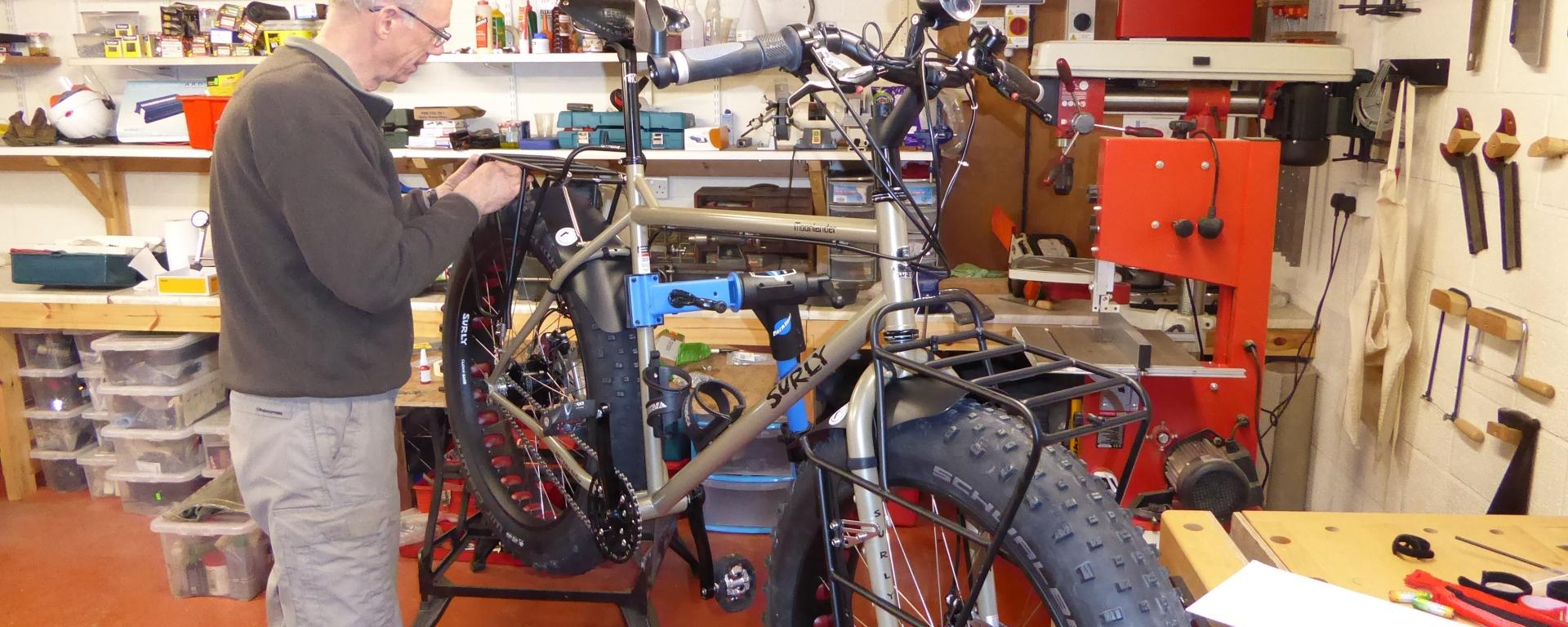 Building Surly Moonlander Fat Bikes, including Wheel